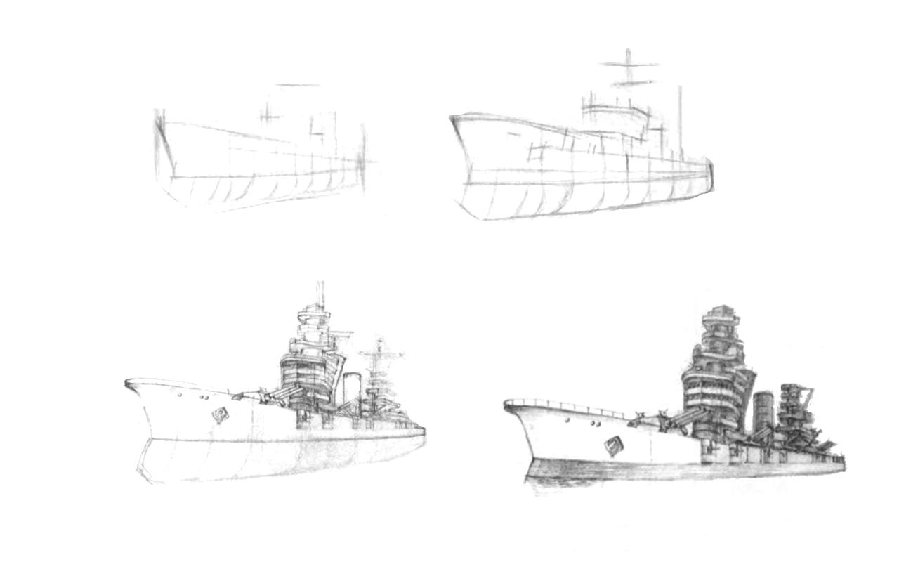 Как нарисовать корабли
