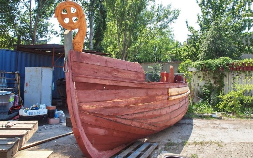 лодка из ели