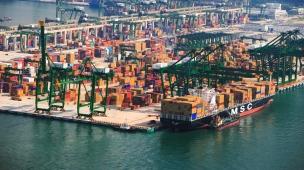 Морской порт Сингапура