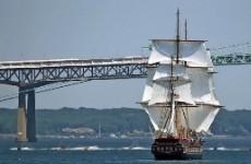 Новейший пиндосный корабль