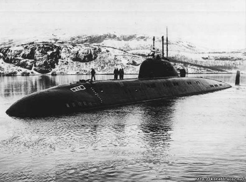 Атомная подводная лодка проекта 671 рт