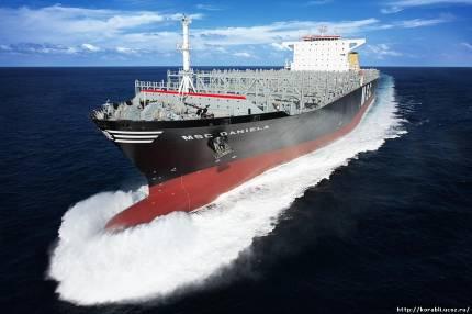 """Грузовое судно """"MSC DANIT """" является новым поколением контейнеровозов компании..."""