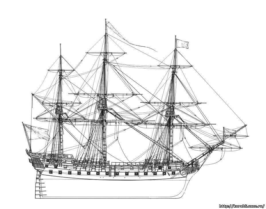 """Чертежи Линейного Корабля  """"HMS Bellona """".  09.06.2013. HMS Bellona - 74-пушечный линейный корабль 3 ранга Королевского..."""