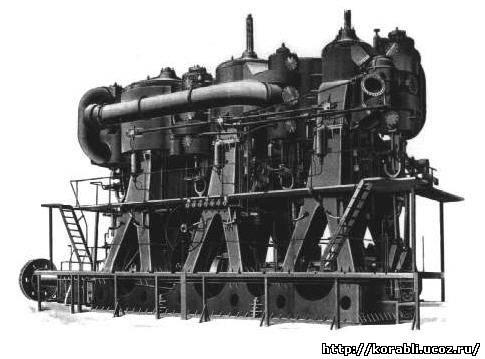 В судовых силовых установках с